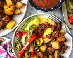 chorizo with potatoes and peppers