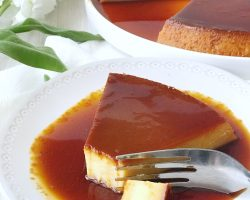 Mexican flan with caramel sauce